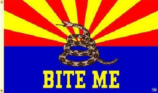 arizona bite me flag AZ gadsden dont tread on me snake flag