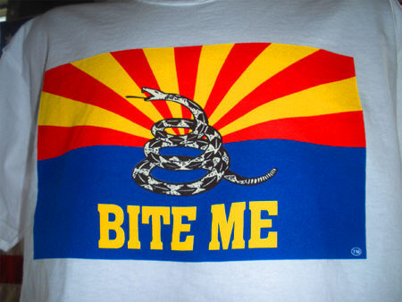 Arizona Bite Me T Shirts