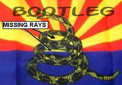 RUFFIN BOOTLEG ARIZONA BITE ME FLAG IDENTIFICATION