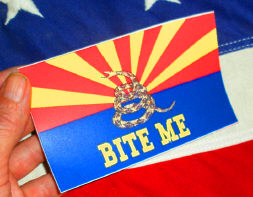Arizona Bite Me arizona Gadsden bite me bumper sticker