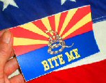 Arizona Bite Me Bumper Sticker